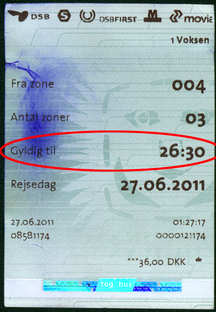 single travel ticket