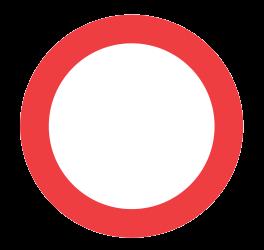 no traffic allowed