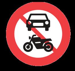no motor vehicles allowed