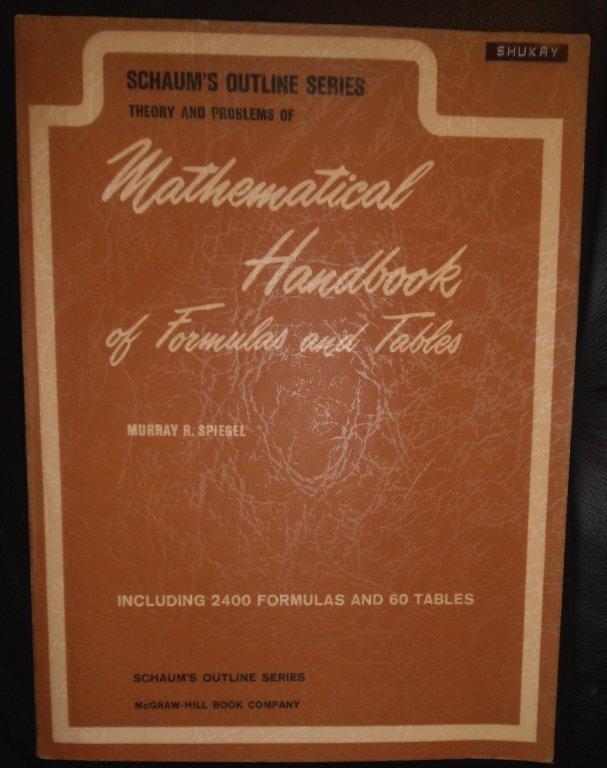Schaums Mathematical Handbook