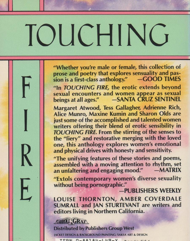 Touching Fire Erotic Writings by Women