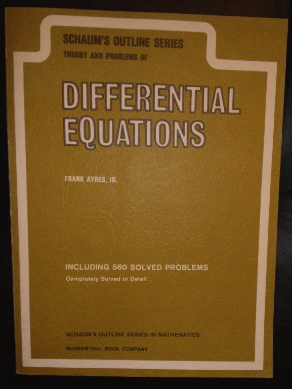 Schaums Differential Equations