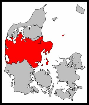 Map of Middle Jutland