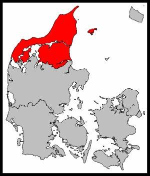 Map of North Jutland