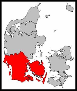 Map of South Jutland