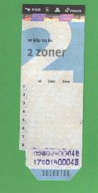 2 zone klippekort