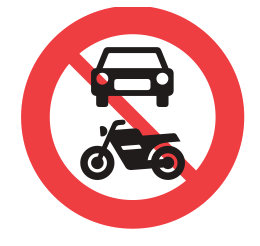no motor vehicles allowed