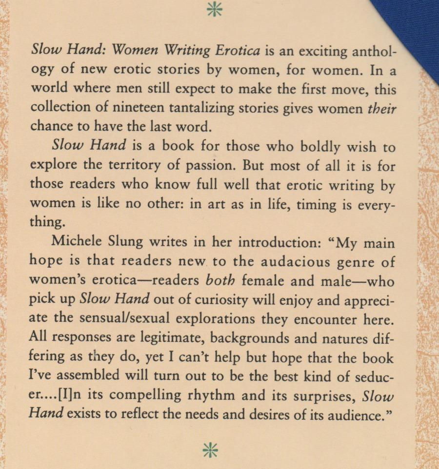 Slow Hand Women Writing Erotica
