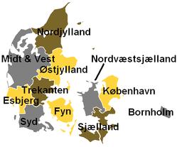 Denmark radio regions