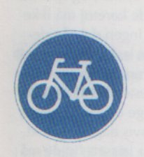bicycle path sign