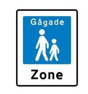 Walking Street Traffic Sign